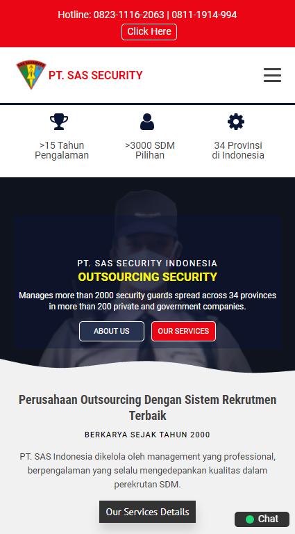 Pembuat Website  PT. SAS Indonesia